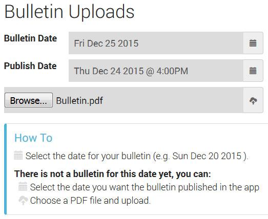 Bulletin Uploads