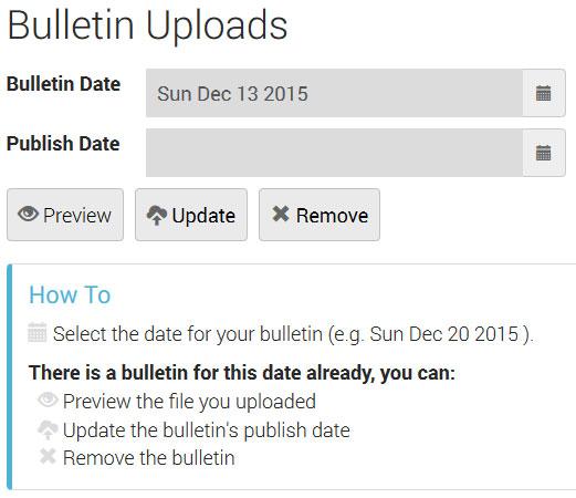 Bulletin Uploads 2